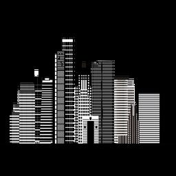 Silhueta de skyline de Ramat gan
