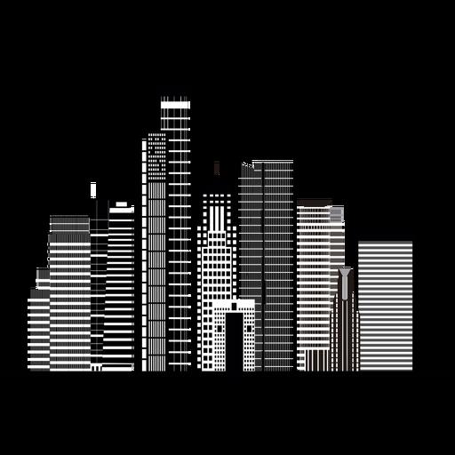 Ramat gan skyline silhouette Transparent PNG