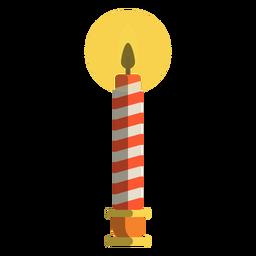 Vela de pilar de bastão de doces vermelho