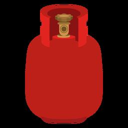 Ícone vermelho tanque de gás
