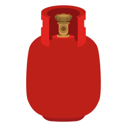 Icono de tanque de gas rojo