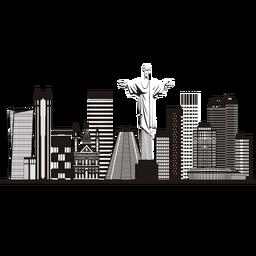 Rio de janeiro skyline silhouette