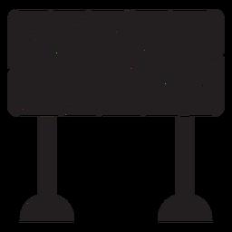 Icono de signo de bloque de carretera