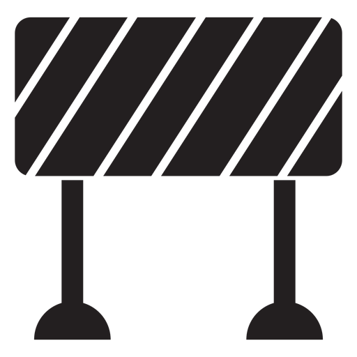 Road block sign icon Transparent PNG
