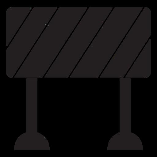 Road block sign icon