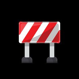 Ilustração de sinal de bloqueio de estrada