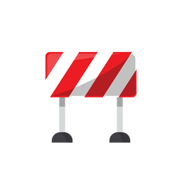 Road block sign illustration