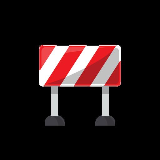 Road block sign illustration