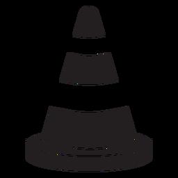 Bombeiro de ícone de cone de estrada