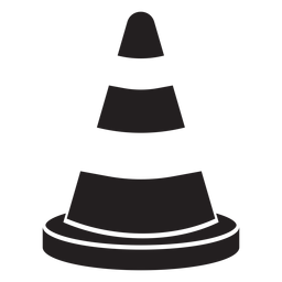 Road cone icon firefighter