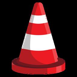Ilustração de cone de estrada