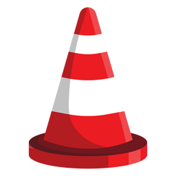Road cone illustration