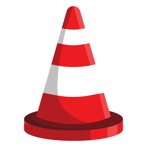 Road cone illustration