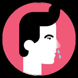 Icono de síntoma de enfermedad de la nariz que moquea