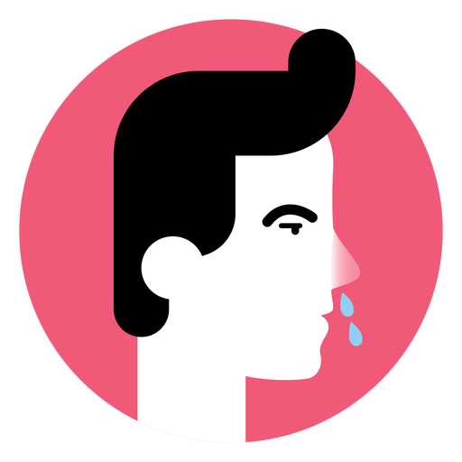 Ícone do sintoma da doença nasal do nariz escorrendo Transparent PNG
