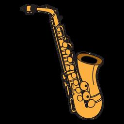 Doodle de instrumento musical de saxofone