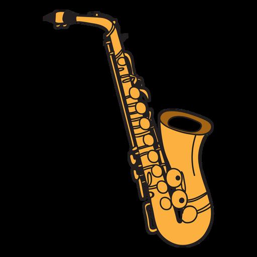 Doodle de instrumento musical de saxof?n