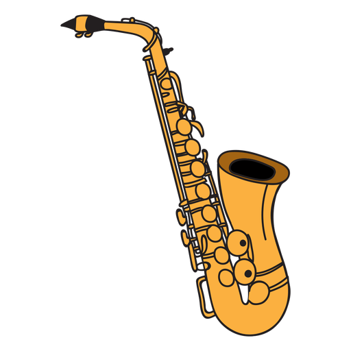 Saxophone musical instrument doodle Transparent PNG
