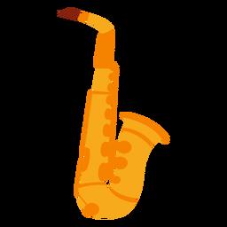 Icono de instrumento musical de saxofón
