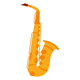 Saxophone musical instrument icon