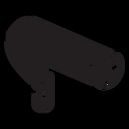 Ícone plano de câmera de vídeo de segurança