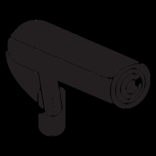 Ícone plano de câmera de vídeo de segurança Transparent PNG