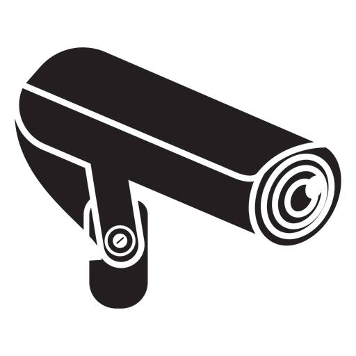 Security video camera flat icon Transparent PNG