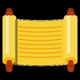 Icono de desplazamiento de Sefer torah