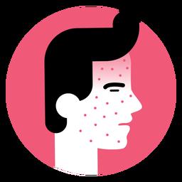 Icono de síntoma de enfermedad de erupción cutánea