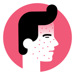 Symbol für Hautausschlag-Krankheit-Symptom