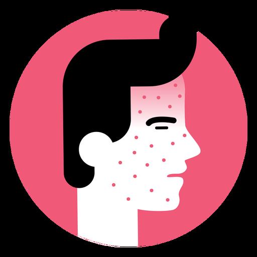 Icono de síntoma de enfermedad de erupción cutánea Transparent PNG