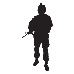 Soldier holding rifle silhouette