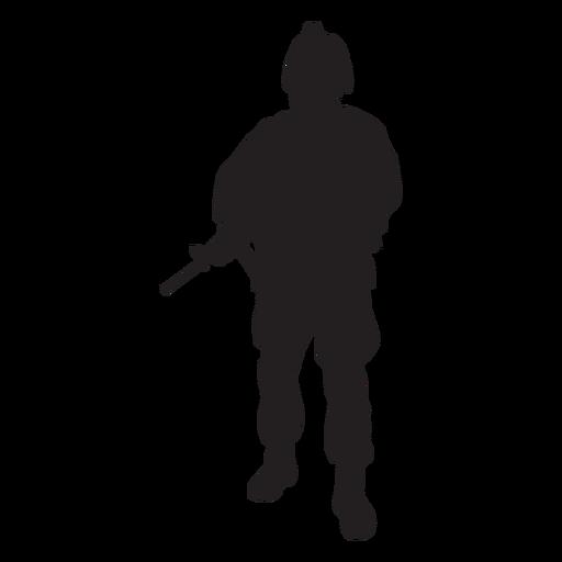 Soldado, segurando, rifle, silueta Transparent PNG