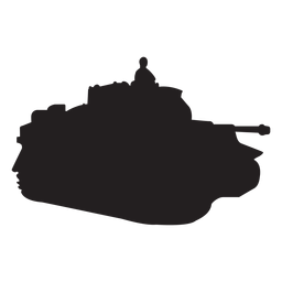 Soldier in tank silhouette