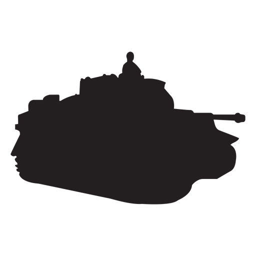 Soldier in tank silhouette Transparent PNG