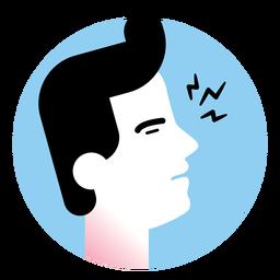 Ícone de sintoma de doença de garganta dolorida