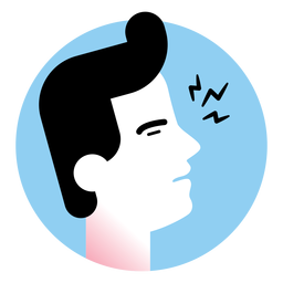 Sore throat sickness symptom icon