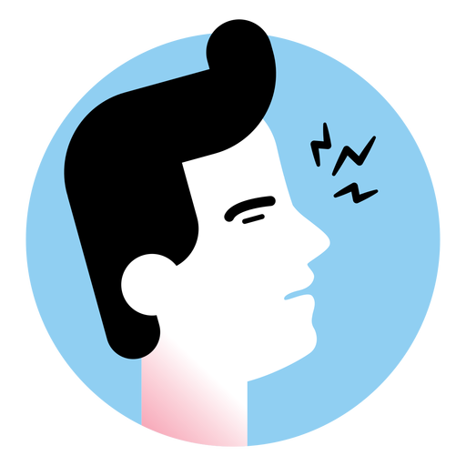 Ícone de sintoma de dor de garganta