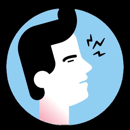 Icono de síntoma de enfermedad de garganta dolorida