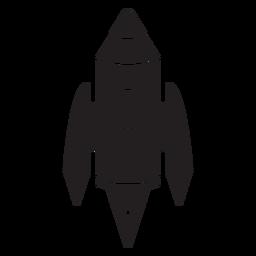 Weltraumrakete schwarze Ikone