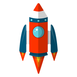 Space rocket clipart