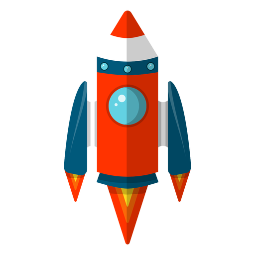 Space rocket clipart