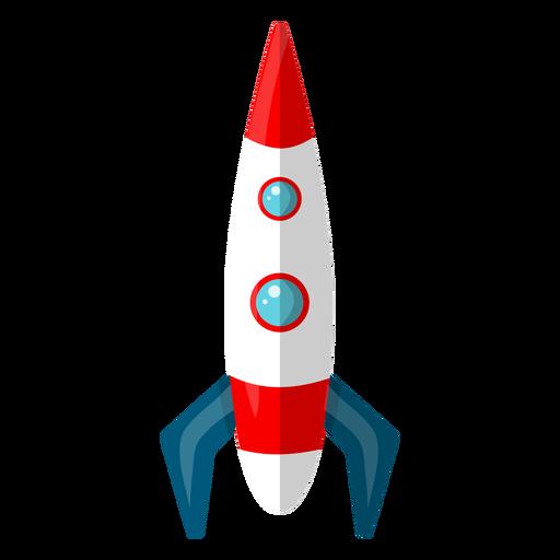Ilustración de cohete espacial