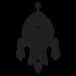 Ícone plano infantil da nave espacial