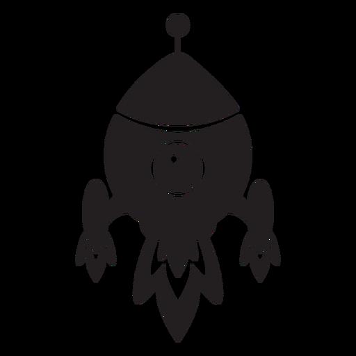 Icono plano de niños de nave espacial