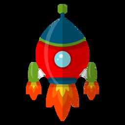 Ilustração de nave espacial infantil