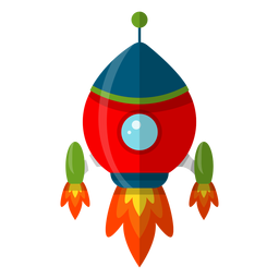 Spaceship kids illustration