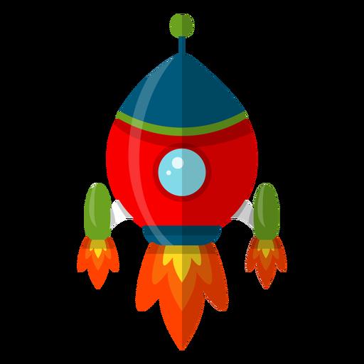 Ilustración de niños de nave espacial