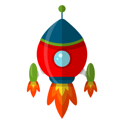 Spaceship kids illustration