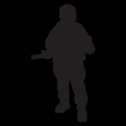 Silhueta de soldado das forças especiais